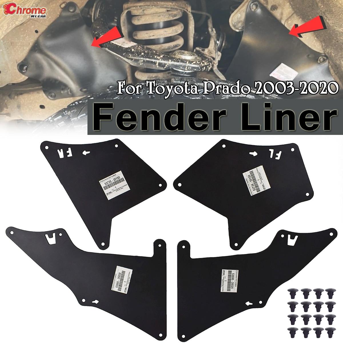 Брызговики для Toyota Land Cruiser Prado J120 J150 FJ Cruiser, щитки от брызг, резиновые аксессуары для автомобиля|Грязезащита|   | АлиЭкспресс