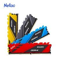 Netac-memoria Ram DDR4, 8gb, 16gb, DDR4, 3200Mhz, 3600Mhz, 2666Mhz, Dimm, disipador de calor XMP, para Intel Ryzen
