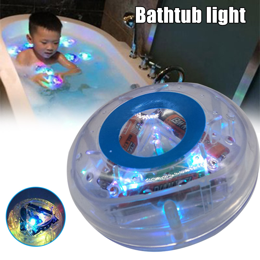 Novel Light-up Colorful Bathing Toy Floating Durable Safe Bathtub Light Toy For Baby Kids Shipping