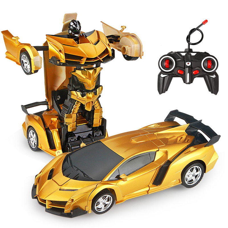 26 Styles RC Car Transformation Robots Sports Vehicle Model Robots Toys Remote Cool RC Deformation Cars Kids Toys Gifts For Boys 1