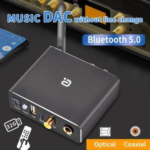 Image 1 - Adaptador de descodificador DAC Bluetooth 5,0, receptor de Audio, reproductor de disco en U, adaptador de micrófono KTV Coaxial óptico a Convertidor analógico