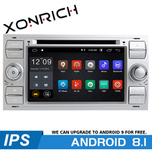 2 din Android 8.1 Car Radio Multimedia Player For Ford Focus 2 3 mk2 Mondeo 4 Kuga Transit Connect S-MAX C-MAX GPSNavigation IPS ford transit 2006 2 3 145 2 2 85 110 130 2 4 100 115 140