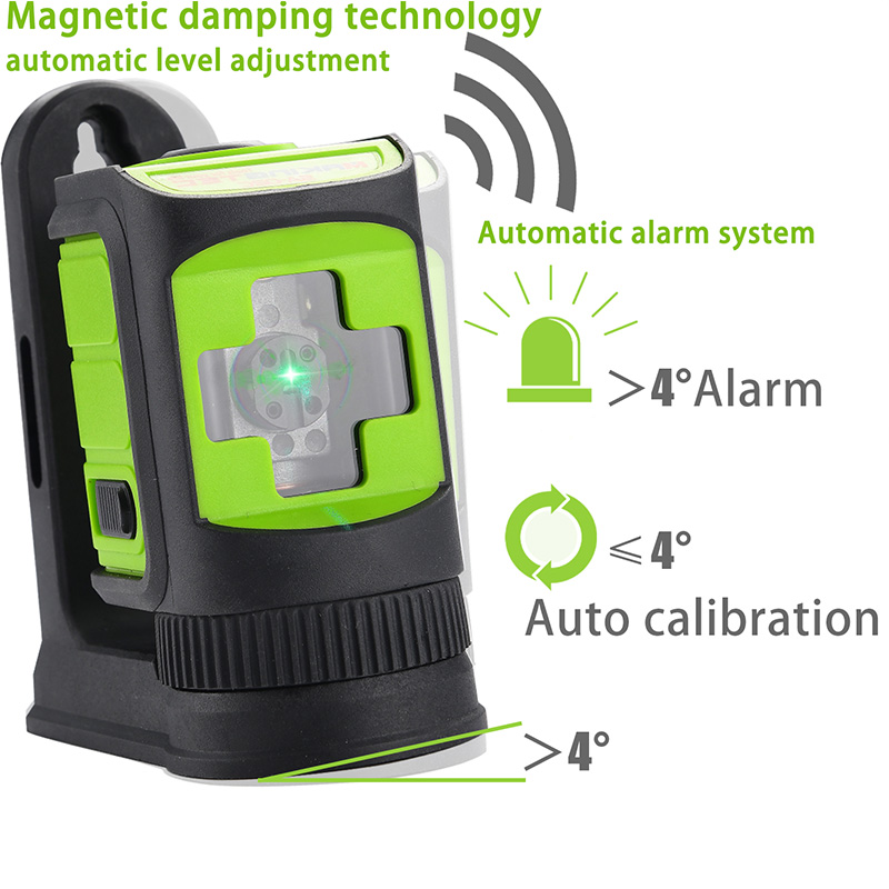 Home  Red Construction Outdoor Self Laser Level Tool Measure Beam Laser Level  Amp Green Leveling Horizontal Level Vertical TECLASER