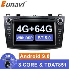 Eunavi Android 9 DVD del coche para MAZDA 3 2007-2012 2 din radio Multimedia reproductor estéreo gps de navegación 1024*600 HD dsp Octa core