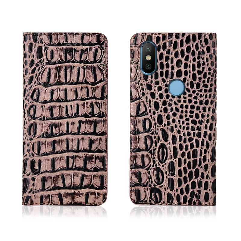Crocodile Pattern Genuine Leather Flip Phone Case Card Slot Holder For Xiaomi Mi6X Xiao Mi A2 Case For Xiaomi Mi6 Phone Bag Case  - buy with discount