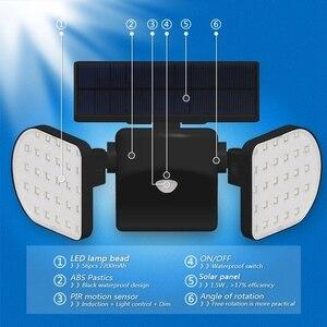 Image 5 - Dış duvar lambası güneş LED ışık hareket sensörü duvar işıkları 30 LED IP65 su geçirmez çift ışık kafa veranda garaj hızlı kargo