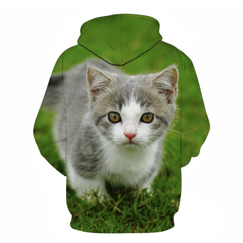 Women's Two Cat Sweatshirts Long Sleeve 3D Hoodies Sweatshirt Pullover Tops Blouse Pullover Hoodie Poleron mujer Confidante Tops 104