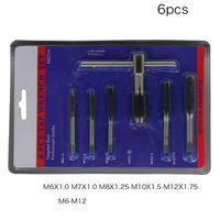 6 pces t punho parafuso rosca torneira conjunto de broca com chave ajustável M6 M12 q1qc|Ferram. Multifunc.|   -