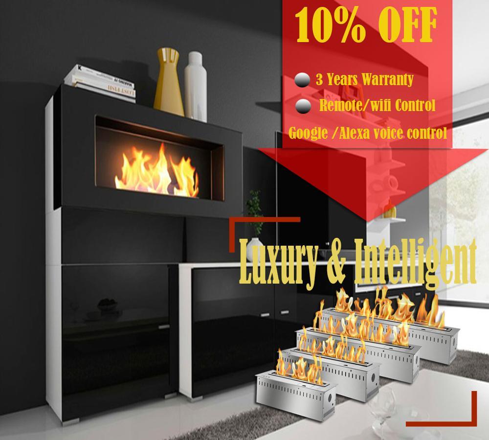 Inno Living Fire 72 Inchsmart Bio Ethanol Burner Alcohol Fireplace Remote  Modern
