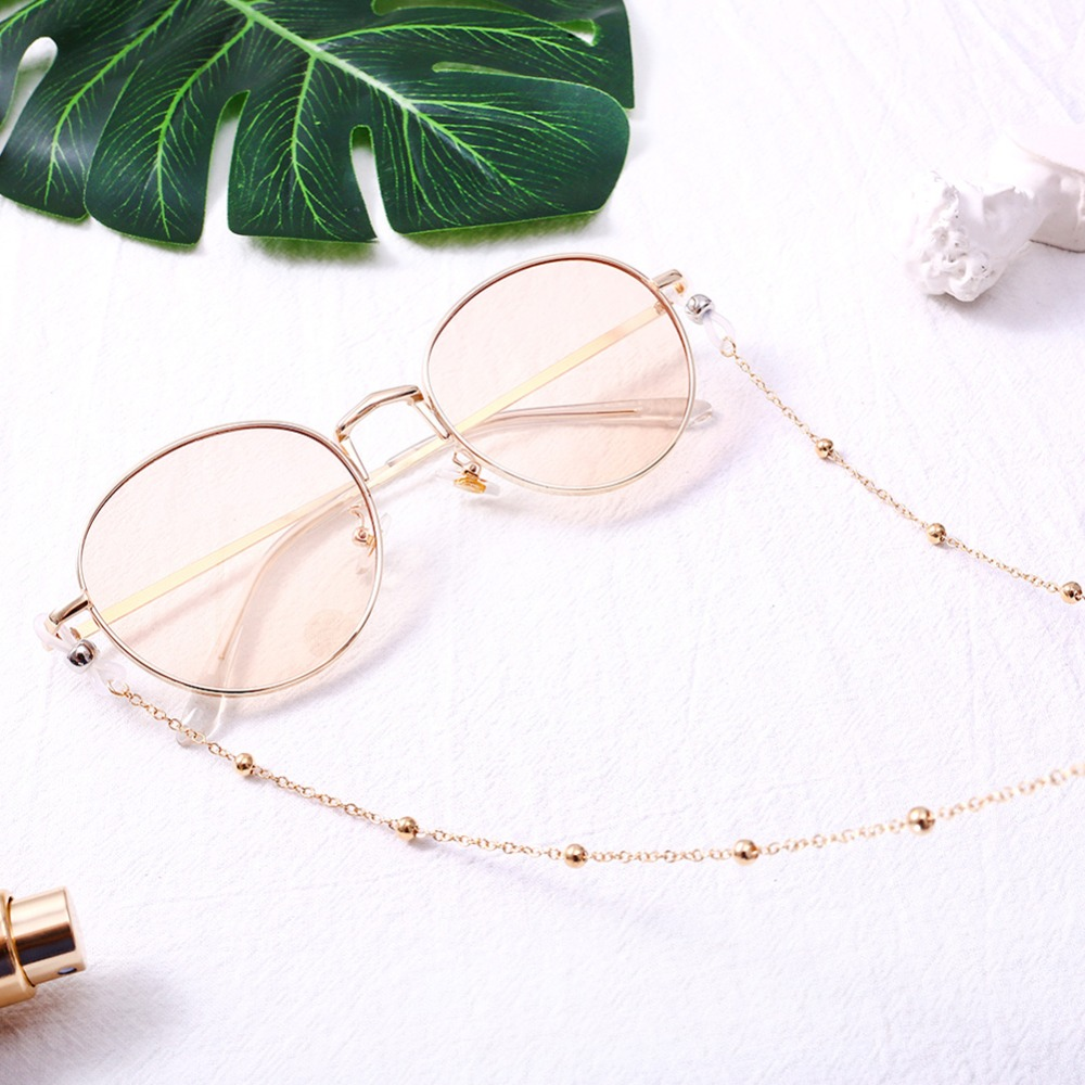Fashion Womens Gold Silver Eyeglass Chains Sunglasses Reading Beaded Glasses Chain Eyewears Cord Holder neck strap Rope (10)
