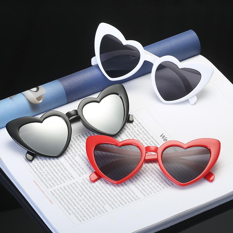 Heart Sunglasses Women Brand Designer Cat Eye Sun Glasses Retro Love Heart Shaped Glasses Ladies Shopping Sunglass UV400