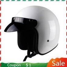 2020 Latest Motorcycle Helmet Dot Approved Retro Motorcycle Capacete Unisex 3/4 Helmet Cafe Racer Vintage Helmet