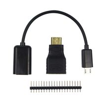 Raspberry Pi Null/Null W Kit 3 in 1 Verlängern USB Kabel Mini HDMI zu HDMI Adapter 40 Pin raspberry GPIO Expansion Interface-Header