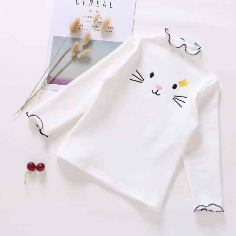 2019 Outono Camisa Das Meninas T Camisas de Manga Longa Para Crianças Dos Desenhos Animados Crianças Blusa de Algodão 2-8years T Do Bebê Da Criança Camisola