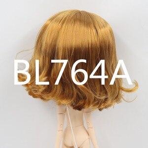Image 3 - Blyth poupée perruque de poupée glacée seulement rbl cuir chevelu et dôme, cheveux courts ondulés jouet cuir chevelu pour bricolage poupée personnalisée