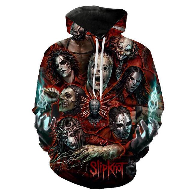 Slipknot 3D Print Hoodies Heavy Metal Rock Band Sweatshirt Men Women Fashion Streetwear Hoodie Hip Hop Pullover Tops Coat Unisex