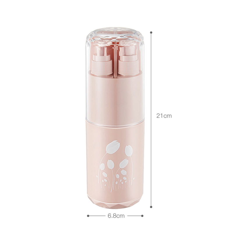 Image 5 - 2019 New Creative Travel Eight In One Wash Set Outdoor Portable Toothbrush Box Shampoo Shower Gel Refillable Bottle WholesaleRefillable Bottles   -