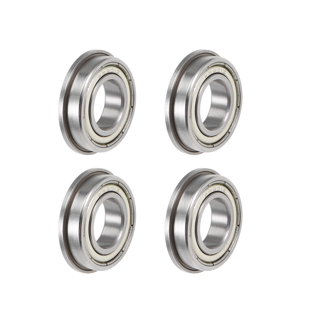 Uxcell F6901ZZ Flange Ball Bearing 12x26x6mm Shielded Chrome Bearings 4pcs