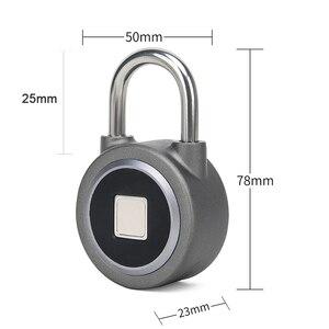 Image 5 - DAYTECH Fingerabdruck schloss Bluetooth Smart Elektrische Tür Sperre Locker Akku Anti Theft Sicherheit für Haus (L01)