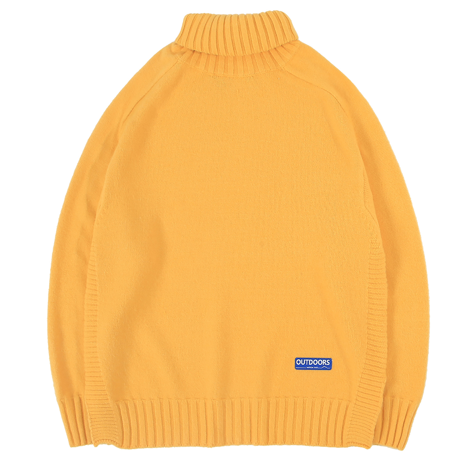Men's Turtleneck Sweater Fine Knitted Jumpers Warmth Pullover Casual Tops Hip Hop For Young Boys Leisure Outdoor Solid Color