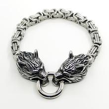 Men's stainless steel square chain bracelet fashion simple accessories bracelet