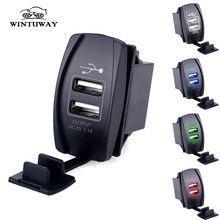 WINTUWAY 12-24 V 3.1A double USB adaptateur secteur chargeur USB allume-cigare prise adaptateur voiture camion bateau ATV 2 Ports(China)