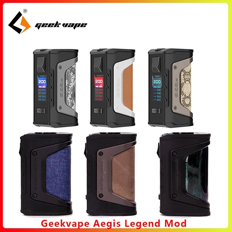 Original GeekVape Aegis Mod Aegis Legend 200W TC Box MOD Powered By Dual 18650 Batteries E Cigs No Battery For Zeus Rta Blitzen