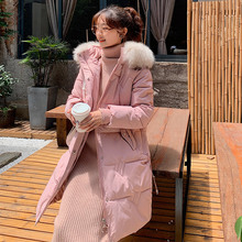 Women Winter Jackets Down Cotton Hooded Coat New Coats Long Fashion Female Fur collar