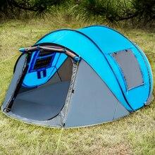 Gooien Tent Open Outdoor Automatische Tenten Gooien Pop Up Waterdichte Camping Wandelen Tent Familie Grote Sized Tenten Dubbele Laag