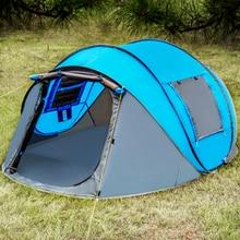 Jogando tenda aberta ao ar livre tendas automáticas jogando pop up barraca de acampamento caminhadas à prova dwaterproof água família grande tamanho tendas dupla camada