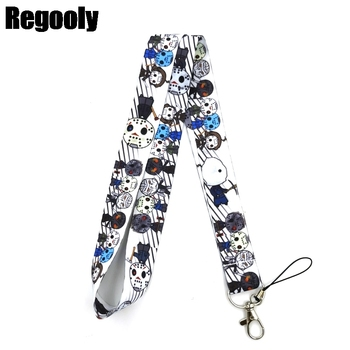 10pcs Horror Characters Friday the 13th Freddy Krueger Lanyard Keys Phone Holder Funny Neck Strap Keyring ID Card DIY Hang Rope - sale item Fashion Jewelry
