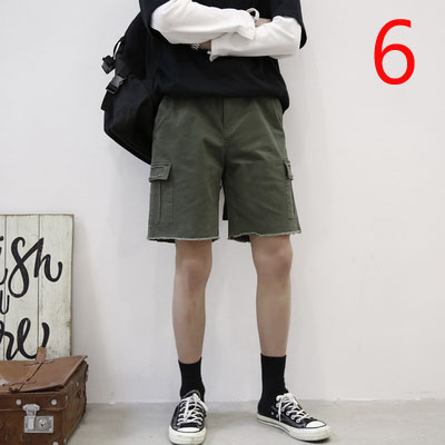Shorts Men's Stretch Straight Summer Thin Section Loose Five Pants Casual Business Seven Points Pants
