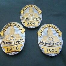 Nuevo oficial de policía de Los Ángeles de Los Estados Unidos insignias LAPD capitán camisa solapa Insignia broche Pin Insignia 1:1 regalo cosplay