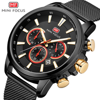 Minifocus relógio masculino marca de luxo cronógrafo masculino esporte quartzo relógios relógio à prova dwaterproof água masculino relógios de pulso relogio masculino