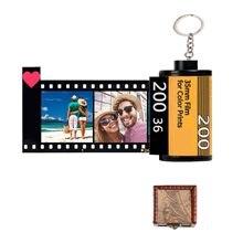 10 Uds fotos rollo de película llavero pareja regalos bricolaje foto de texto álbumes cubierta llaveros Memorial personalizada amante regalo del Día de San Valentín.