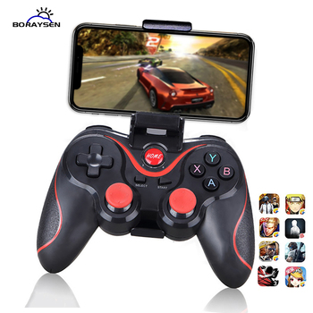 T3 X3 Wireless Bluetooth Gamepad for IOS Android Mobile Phone Joystick Controller Game Handle For Tablet TV Box Holder