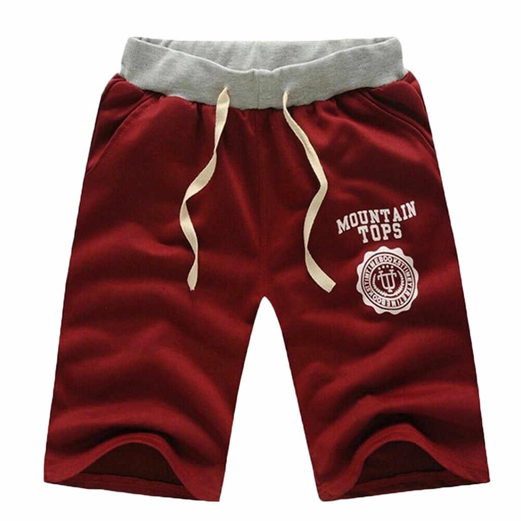 Męskie spodnie męskie szorty Cargo spodnie w stylu Casual, letnia hawajska plaża spodnie sportowe biegaczy zwykłe pół spodnie męskie spodnie z wieloma kieszeniami