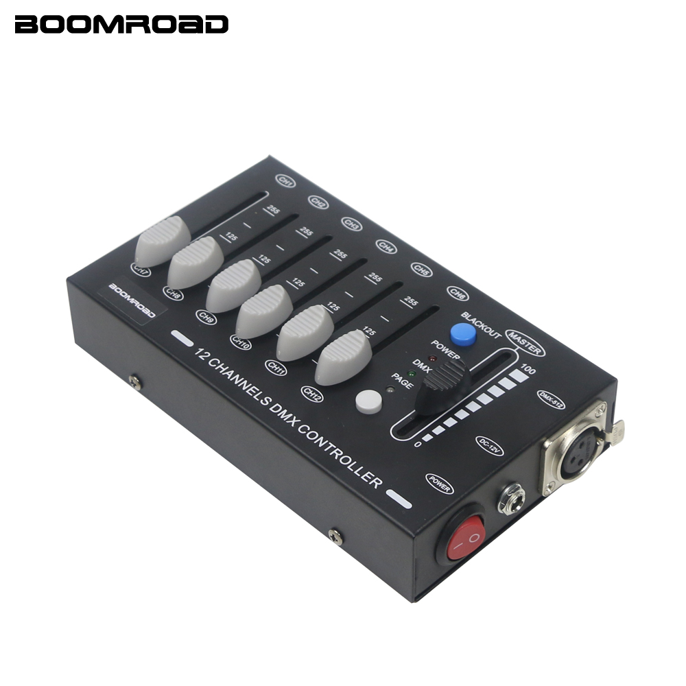 Stage Light LED Controller 12CH Dmx Controller Mini LED Par Light DJ Light Console For Moving Heads Led Disco Light Effect