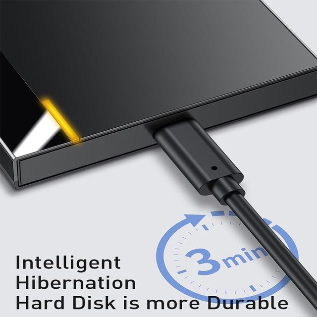 Baseus HDD Case 2.5 SATA to USB 3.0 Type C 3.1 Adapter HDD Enclosure External Hard Disk Case 6TB HD Hard Drive SSD HDD Box Caddy 3