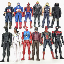 цена на Marvel the avengers Spider-man Hulk/Caption/Black panther/iron man/Thor Action Figure Toy Collectible Model 12