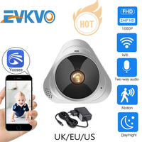 EVKVO WIFI Kamera 360 Grad Panorama Fisheye 1080P HD MINI Wireless IP Kamera Indoor Hause Sicherheit CCTV P2P Zwei weg Audio