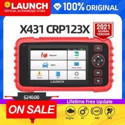 launch x431 crp123X obd2 scanner auto code reader car diagnostic tool ENG AT ABS SRS diagnostic scanner automotive tool crp123