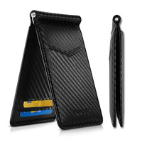 NewBring Black Carbon FIber Look Money Clip RFID Blocking Driver License ID Cash|Money Clips| |  -