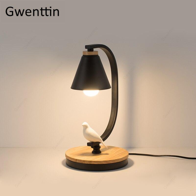Nordic Table Lamp Resin Bird Light Standing Desk Light Bedroom Bed Lamp Home Decoration Modern LED Light Fixtures Loft Luminaire