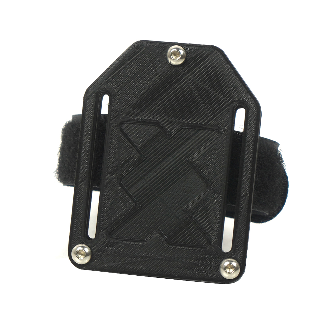 JMT Black 3D Printed PLA Hang Set Strap Tie & Mounting Plate for FPV Drone Backpack
