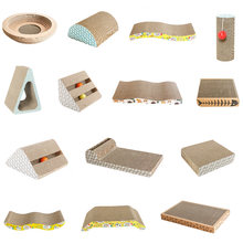 Corrugated Paper Cat Scratch Board Catnip Cat Scratching Pad Pet Cat Toys Pet Supplies
