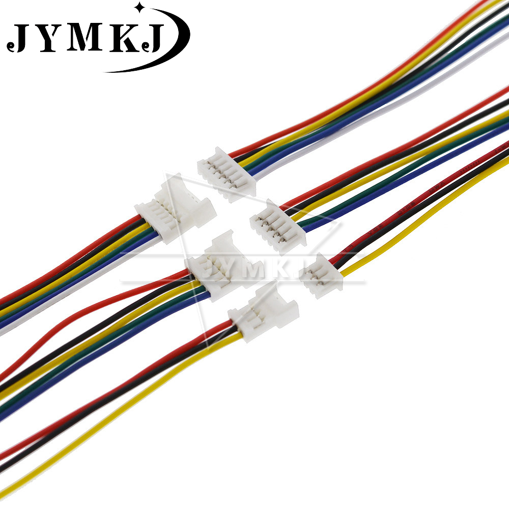 10 PCS Micro XH JST 1.25 2P 3P 4P 5P 6PIN Male Female Plug Connector With Wire Cables 150mm