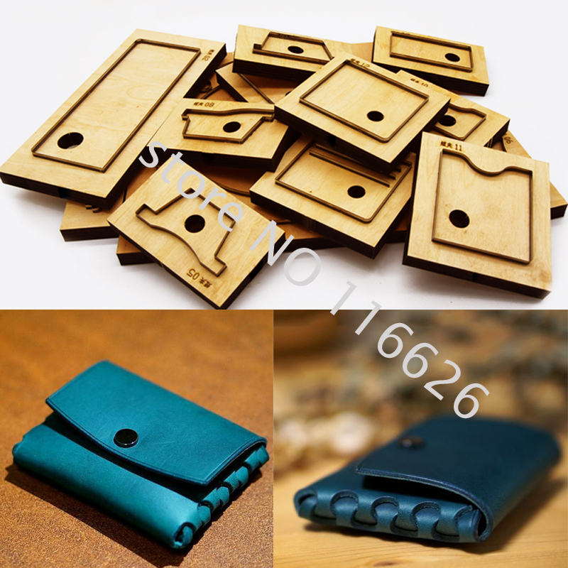 DIY Leather Craft One Piece Self Hold No Sewing Card Holder Wallet Coin Bag Die Cutting Knife Mold Metal Hollowed Puncher