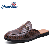 Smoking-Shoes Men Mules Flats Slip On Designer Fashion Summer for Loafers