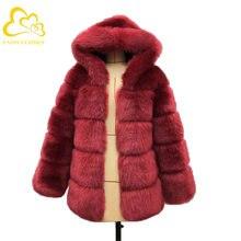 Зимнее пальто с искусственным мехом Детская Новая мода женская